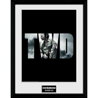 Fotografía enmarcada The Walking Dead Temporada 6 30x40 cm