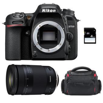 Pack Nikon D7500 + Tamron 18-400mm f/3.5-6.3 Di II VC HLD + Bolsa + SD 4Go