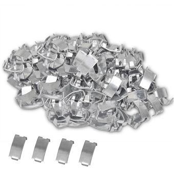 500 clips cola de milano para cable vidaXL, acero galvanizado