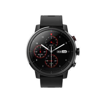 Smartwatch Xiaomi Amazfit Stratos, GPS y Sensor de frecuencia cardíaca, Negro