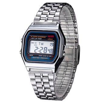 824881d04e0d Reloj de pulsera Hombres Mujeres Vintage clásico metal digital Wrist Watch  plata - Reloj pulsera - Los mejores precios