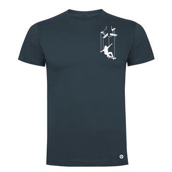 Camiseta manga corta Friking, Modelo 983 Skater Puppet Talla 2XL, Ebano