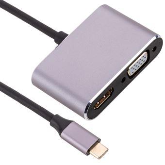 Conversor BeMatik de USB 3.1 tipo C a VGA y HDMI