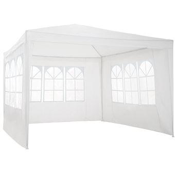 Carpa 3x3m con 3 paneles laterales, Blanco