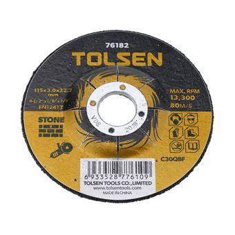 Disco de cortar de amoladora para piedra Tolsen 115 x 3 x 22.2 mm