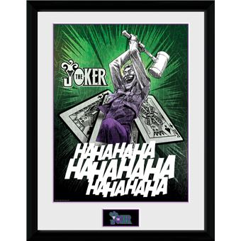 Fotografía Enmarcada DC Comics Joker Cards