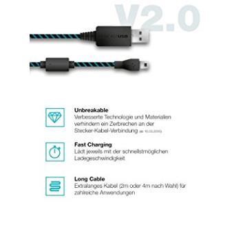 Cable Controlador Para Xbox/ps4negroaccesorios Videoconsolas, Lioncast