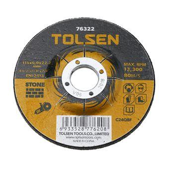 Disco de cortar de amoladora para piedra Tolsen 115 x 6 x 22.2 mm