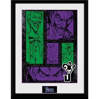 Fotografía Enmarcada DC Comics Joker Panels