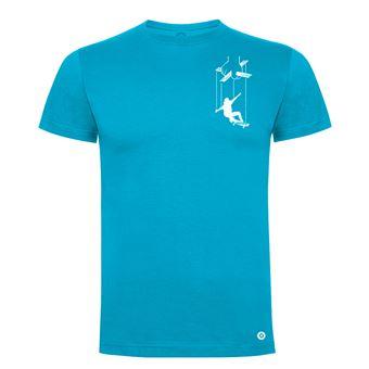 Camiseta manga corta Friking, Modelo 983 Skater Puppet Talla 2XL, Turquesa