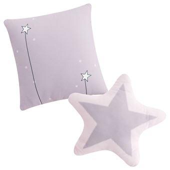 Set de 2 cojines decorativos Pekebaby Candy rosa algodón