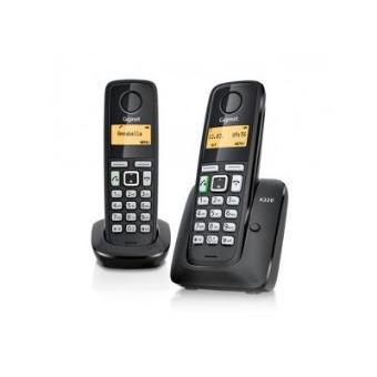 Teléfono fijo inalámbrico Gigaset A220 Duo negro
