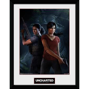 Fotografía enmarcada Uncharted El Legado Perdido Portada 30x40 cm