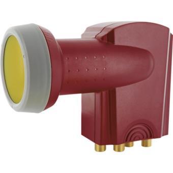 Schwaiger lnb Quad Digital Rojo con Protección Solar