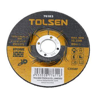 Disco de cortar de amoladora para piedra Tolsen 125 x 3 x 22.2 mm