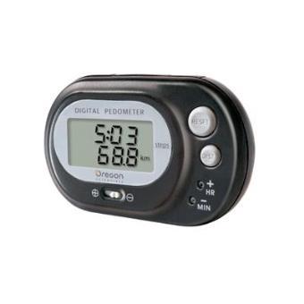Podómetro Digital con Reloj Digital, Oregon Scientific PE320BK, negro