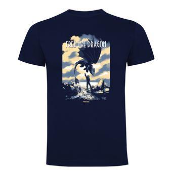 Camiseta manga corta Friking, Modelo 751 Como Entrenar a tu Dragón, free the dragon, Talla L, Navy