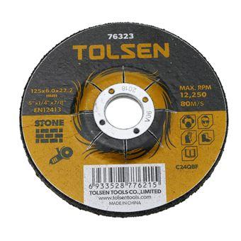 Disco de cortar de amoladora para piedra Tolsen 125 x 6 x 22.2 mm