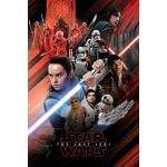 Maxi Poster Star Wars The Last Jedi Montaje Rojo
