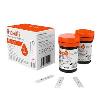 Caja de 50 tiras reactivas para glucómetro iHealth