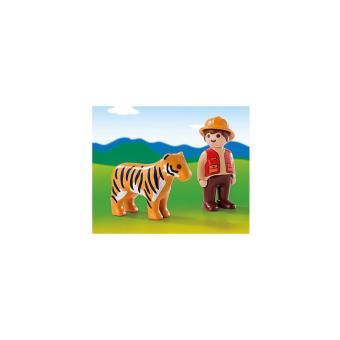 PLAYMOBIL 6976 1.2.3 - Guarda de caza con tigre