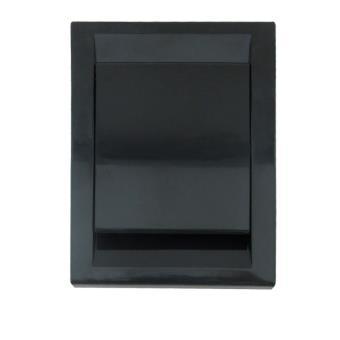 Toma Aspiración Centralizada Serie PREMIER 91x123 mm Negro