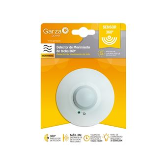 Detector de Movimiento infrarrojo Garza Power 360º blanco