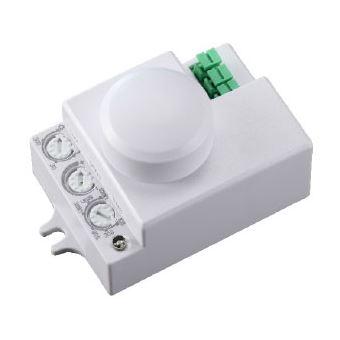 Detector de Movimiento Garza Power Microondas Invisible, ángulo detección Regulable 180º / 360º, Blanco