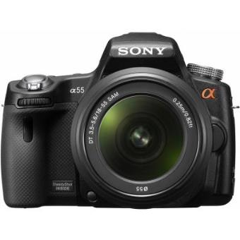 Cámara de fotos digital Sony SLT-A55 Cuerpo con lente de zoom estándar