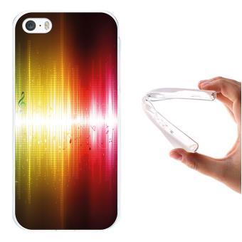 f707cd06cfa Funda iPhone SE iPhone 5 5S, WoowCase [ iPhone SE iPhone 5 5S ] Funda  Silicona Gel Flexible Notas Musicales Brillo Abstracto, Carcasa Case TPU  Silicona ...