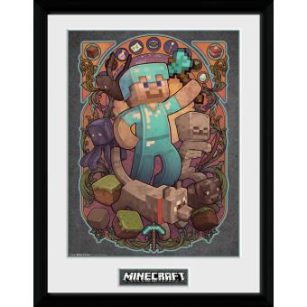 Fotografía enmarcada Minecraft Steve Nouveau 30x40 cm