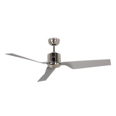 Ventilador de techo CasaFan 313270 ECO DYNAMIX 132 BN-SL plata/ cromo cepillado