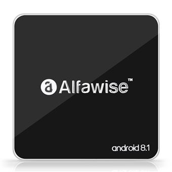 Android TV BOX Alfawise A8 2GB+16GB Rockchip 3229, 2.4G WIFI 100 Mbps, Soporte 4K H.265, Negro
