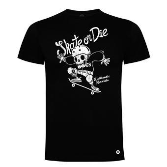 Camiseta manga corta Friking, Modelo 982 Skate or Die Talla XL, Negro
