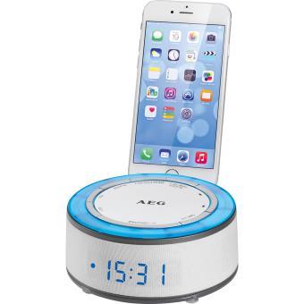 Aeg Radio Despertador con Iluminación Ambiental y Sonidos de Naturaleza mrc 4151 Blanco