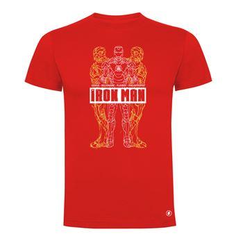Camiseta manga corta Friking, Modelo 47 Marvel, Iron Man, Talla XXXL, Rojo