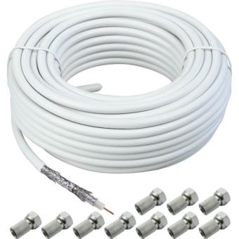 Schwaiger Kox120 Cable Coaxial (120db) 100m Blanco