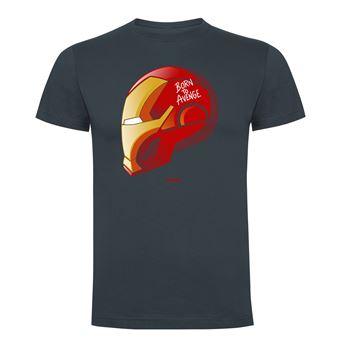 Camiseta manga corta Friking, Modelo 786 Marvel, Born to avenge, Talla L, Ebano