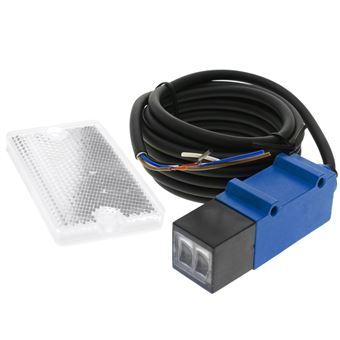 Sensor interruptor célula fotoeléctrica BeMatik PNP NO+NC 10-30VDC 2m reflector