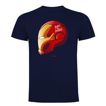 Camiseta manga corta Friking, Modelo 786 Marvel, Born to avenge, Talla L, Navy