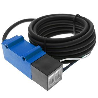 Sensor interruptor célula fotoeléctrica BeMatik PNP NO+NC 10-30VDC 30cm autoreflexiva