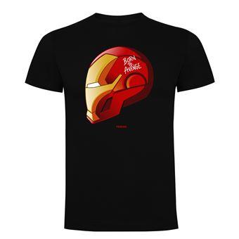 Camiseta manga corta Friking, Modelo 786 Marvel, Born to avenge, Talla L, Negro