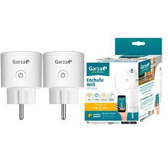 Enchufe wifi inteligente programable compatible con Alexa y Google Home, 2 uds