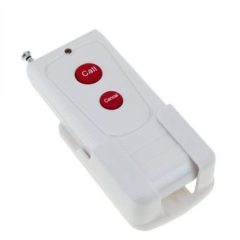 Pulsador emisor transmisor para sistema de llamada inalámbrico PrimeMatik, 1000m 2 teclas