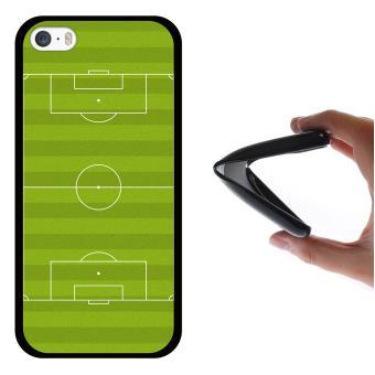 565d6551f7d Funda iPhone SE iPhone 5 5S, WoowCase Funda Silicona Gel Flexible Campo de  Fútbol Deporte, Carcasa Case - Negro - Fundas y carcasas para teléfono  móvil ...