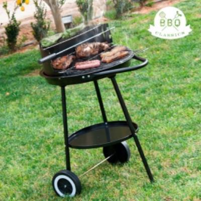 Barbacoa de Carbón con Doble Nivel BBQ