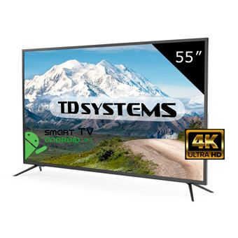 "Televisor Led 55"" Ultra HD 4K Smart TV - TD Systems K55DLM8US. Resolución 3840 x 2160, 3x HDMI, VGA, 1x USB, Smart TV"