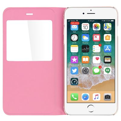 3242226bda3 Funda libro Apple iPhone 7 Plus/8 Plus con ventana carcasa rígida, Rosa -  Fundas y carcasas para teléfono móvil - Los mejores precios   Fnac