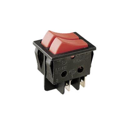 11.410.I/N Interruptor unipolar doble tecla Cuerpo y Teclas COLOR  Negro Tipo 2 interruptores 16A/250V Electro DH 8430552016808