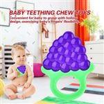 Juguete de dentición de silicona Anillo de dentición suave para bebé (uva)